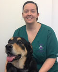 Laura Mainwaring, nurse at Abbey Veterinary Centre