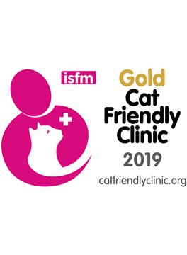 Gold award for Cat Friendly Clinics
